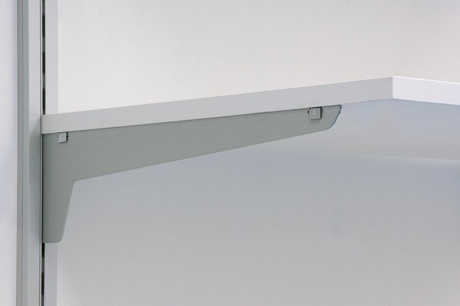 staffa supporto porta piano in alluminio