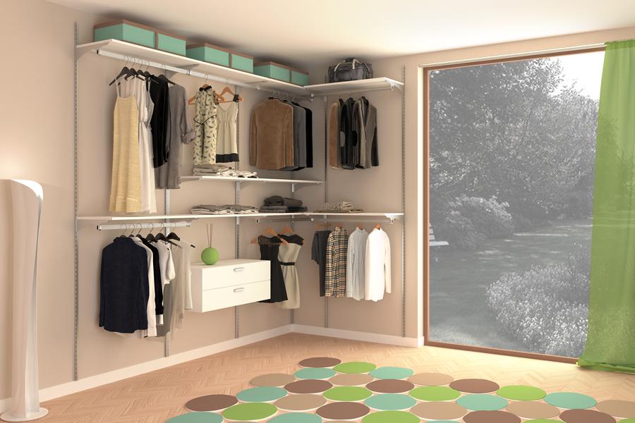 corner closet aluminium easy customise