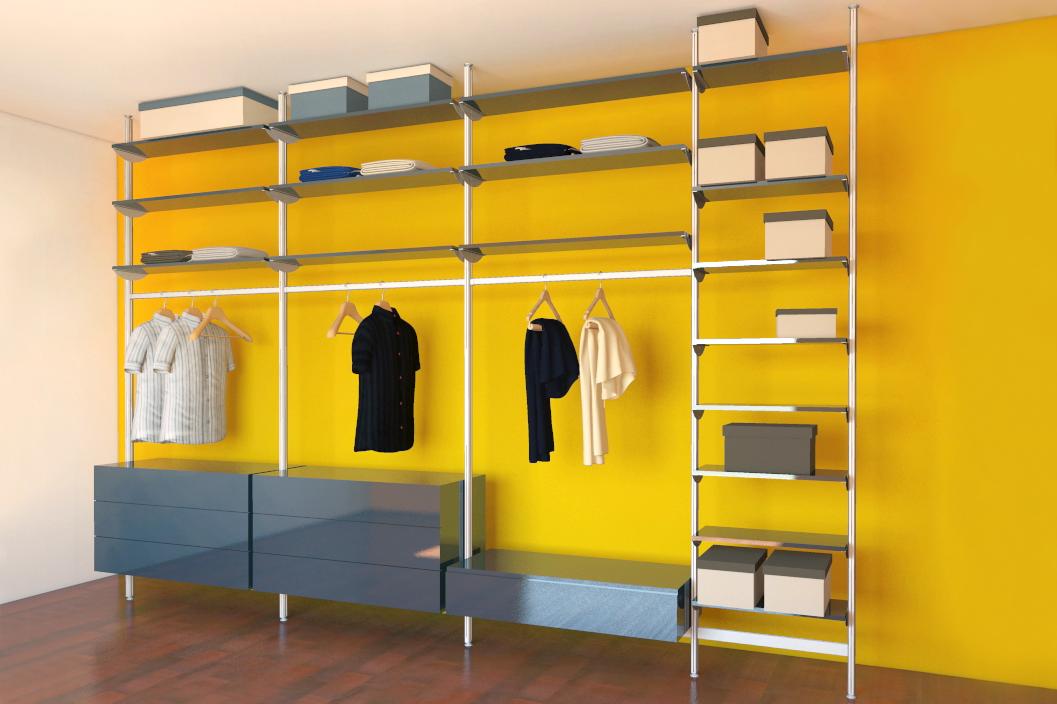 cabina armadio su montanti autoportanti pavimento soffitto