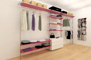 cabina armadio su montanti autoportanti pavimento parete