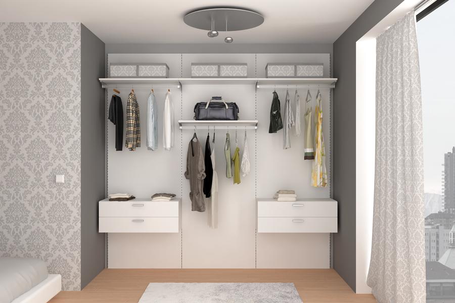total white closet bianco cabina
