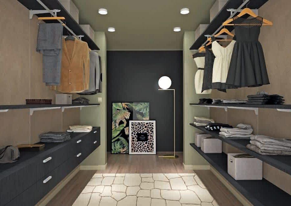 Cabina armadio spazi piccoli